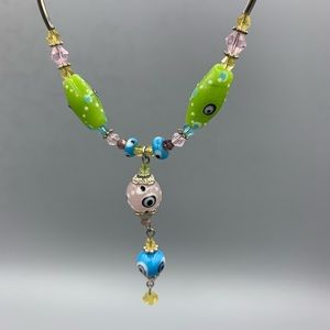 Jewelry - Silver and Glass Necklace